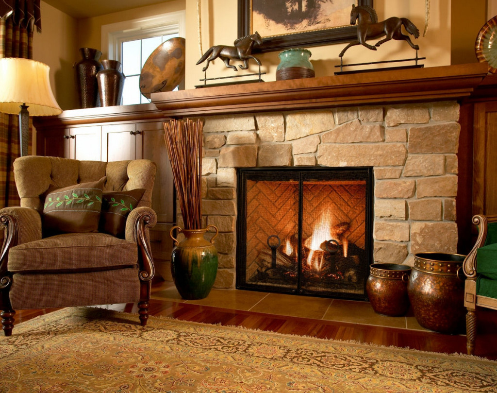 fireplace designs with stone