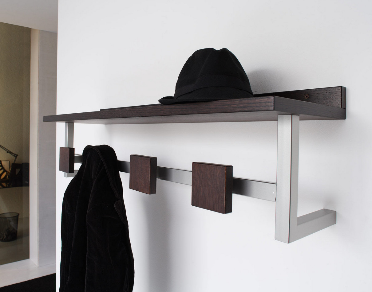 floating shelves with hooks
