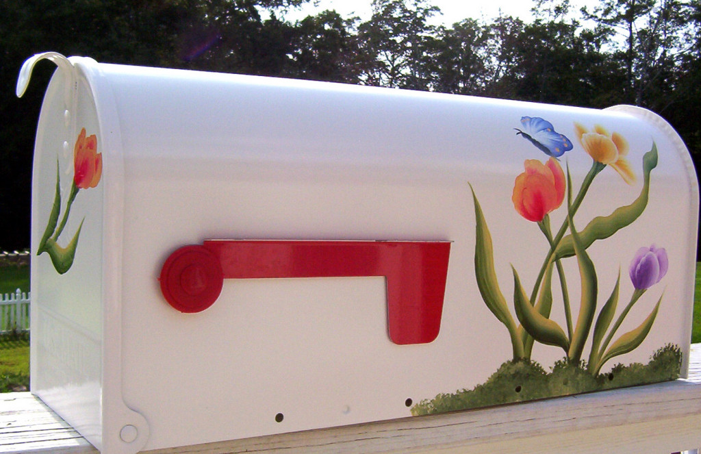 floral painted mailboxes