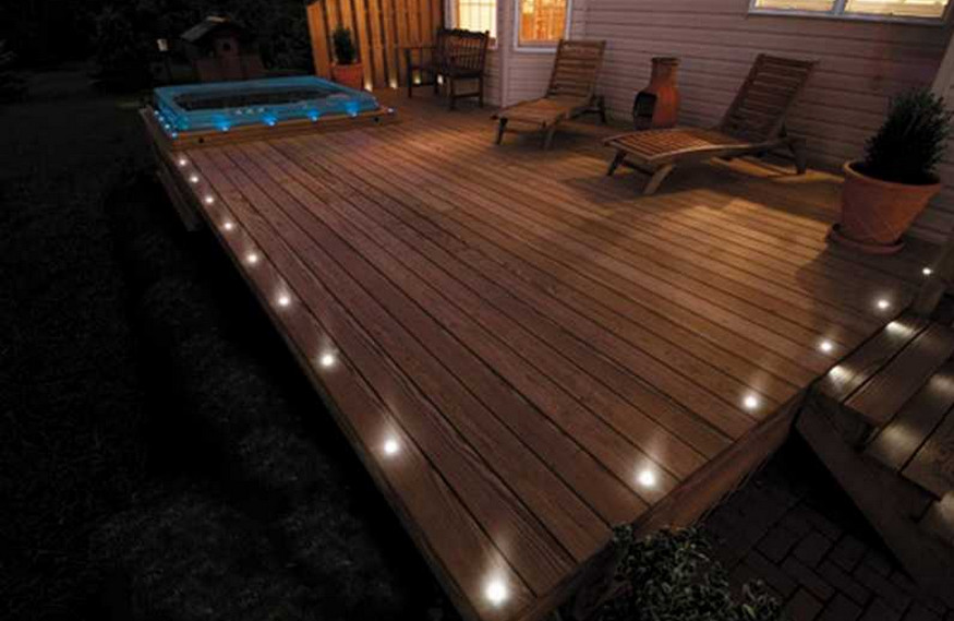 flush mount solar deck lights