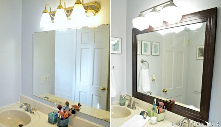 Frame A Bathroom Mirror With Molding