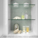 glass shelves for shower niche