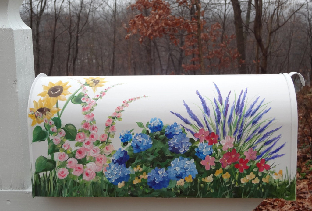 hand painted decorative mailboxes
