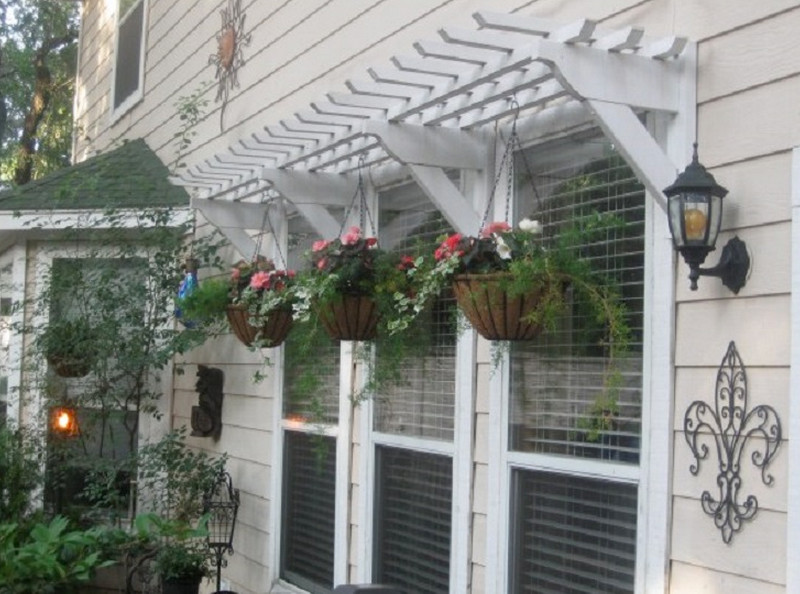 hanging window box planters