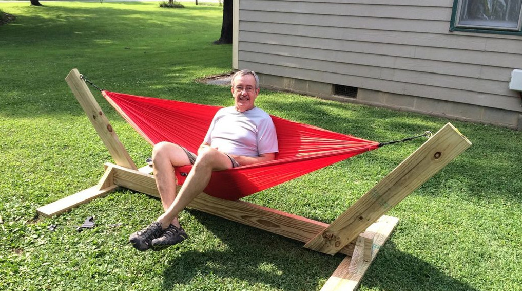 how to make a hammock stand out of wood