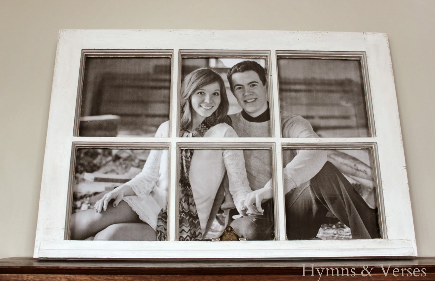 how to make a picture frame from an old window