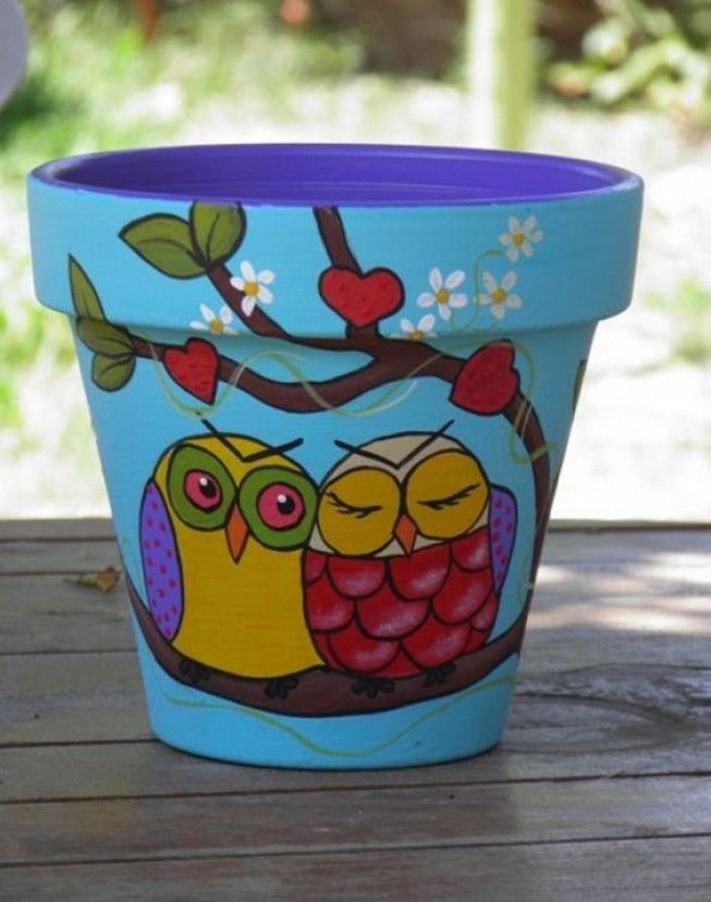 ideas for painting flower pots
