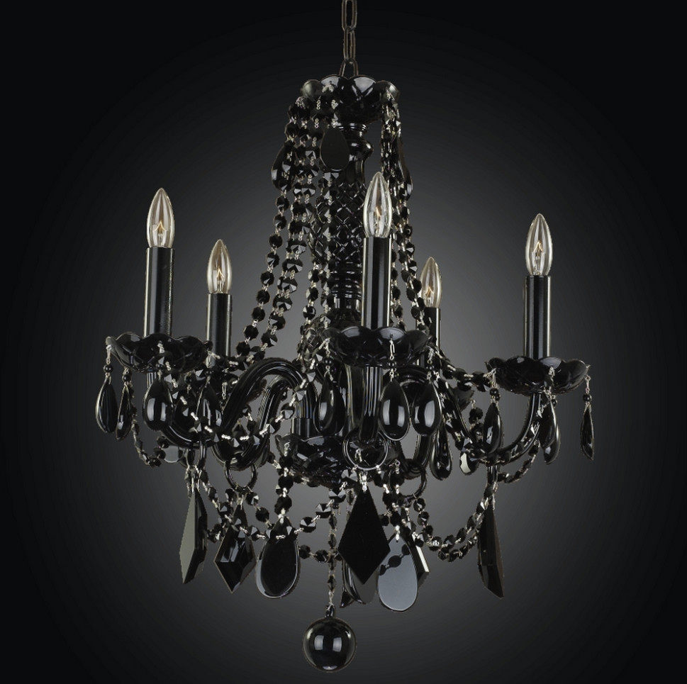 jet black crystal chandelier