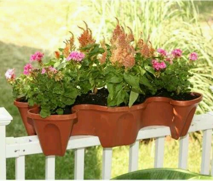 Cool deck rail planters