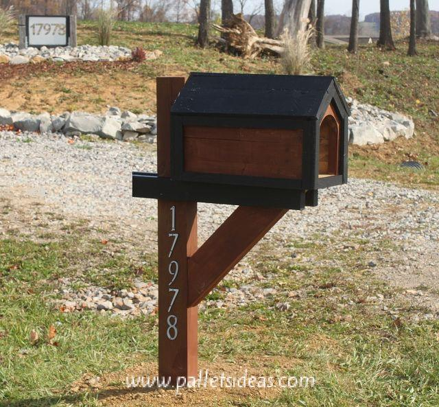Cool diy mailbox post plans