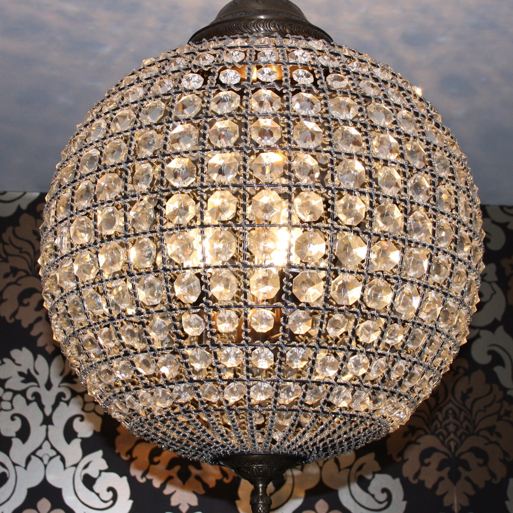 Crystal round ball chandelier