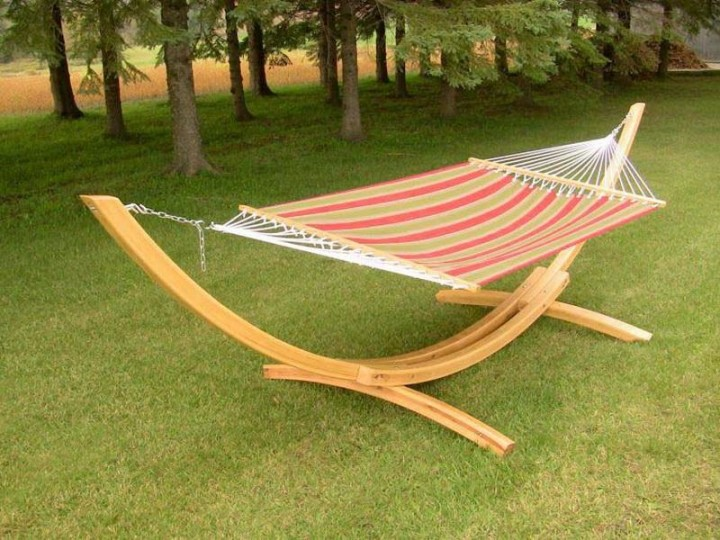 Medium image of diy hammock chair stand with simple frame