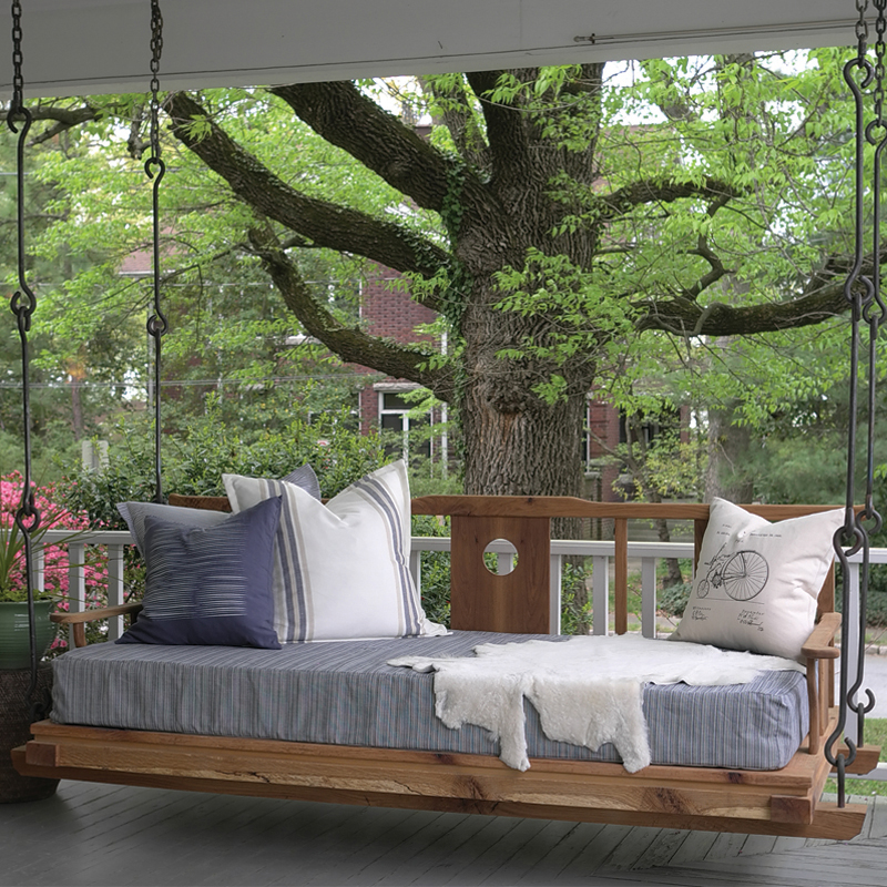 Double hanging porch bed