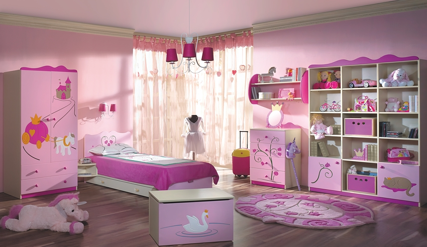 Girls Room Chandelier Design Idea