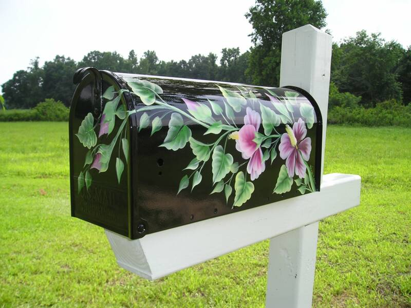 hand painted mailbox designs. Hand Painted Mailboxes Decorative Mailbox Designs A