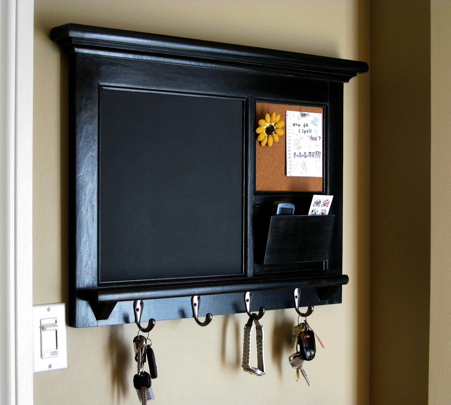 Home Decor Follow chalkboard key holder ideas