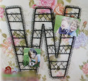 Metal Wall Art DIY Letter Combination as Photo