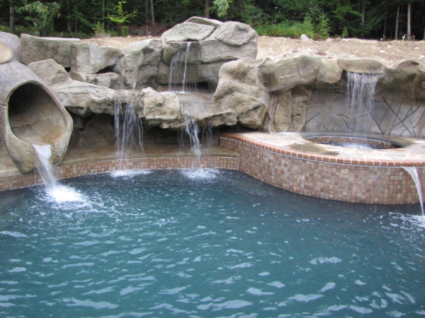 Oasis Swimming Pool Waterfalls