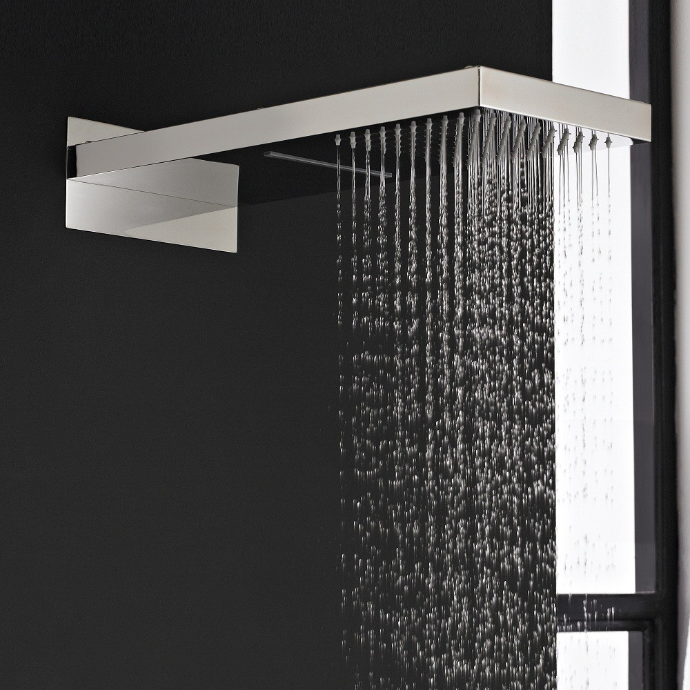Rectangular Shower Head with Waterfall