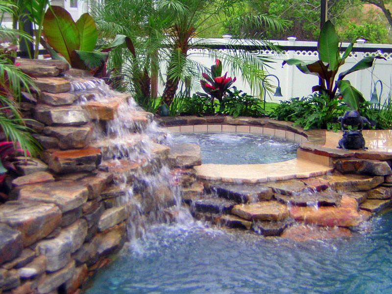 Swimming Pool Photos of Waterfall Swimming Pools