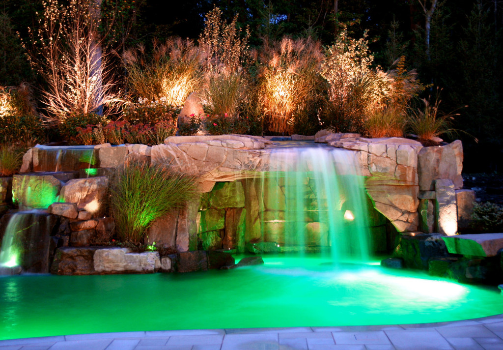 Swimming Pool and Landscaping Firm Re-Creates Natural Waterfalls