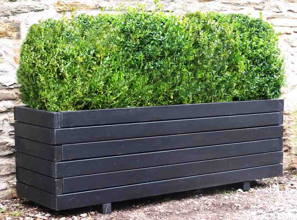 Very Large Wooden Trough Planters long