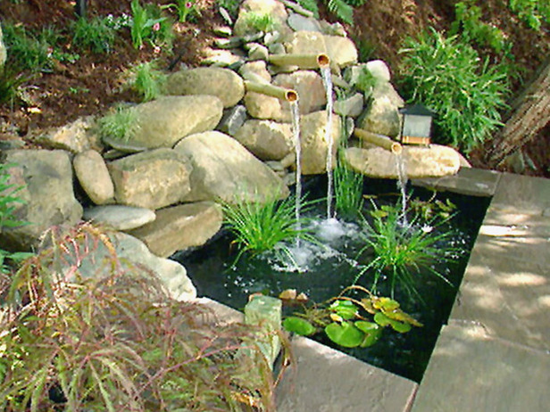 backyard water fountains garden