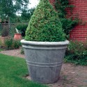 big flower pots Giant Stone Flower Plant Pot Vase