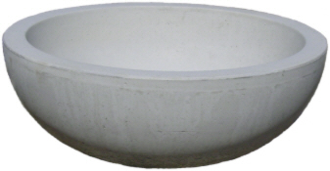 concrete Big wok planter flower pot