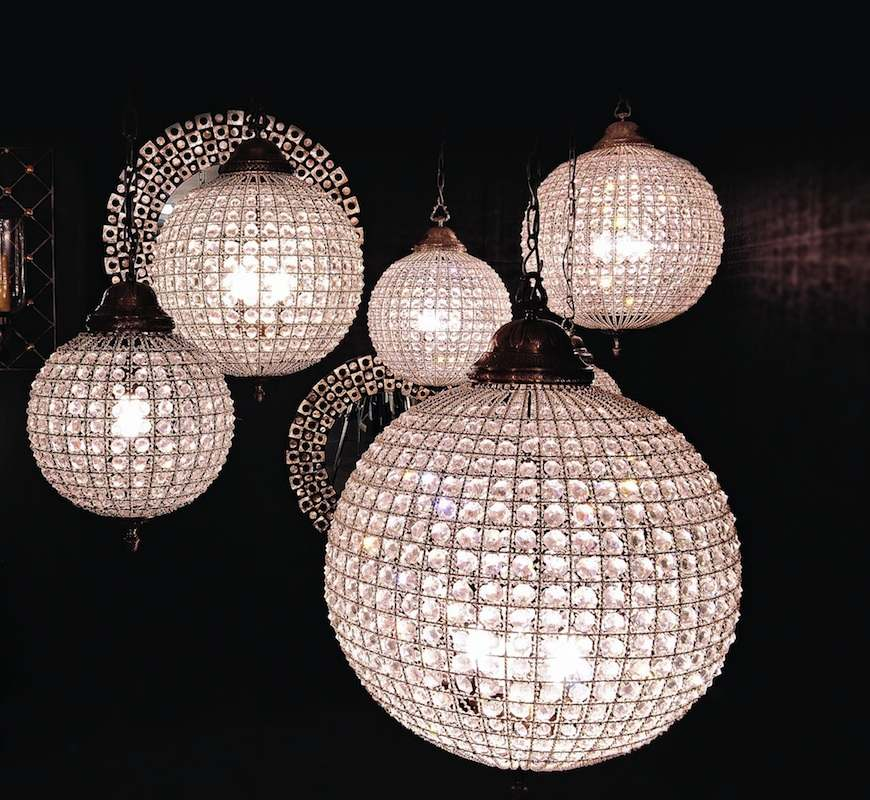 Crystal Ball Chandeliers Decorating Ideas