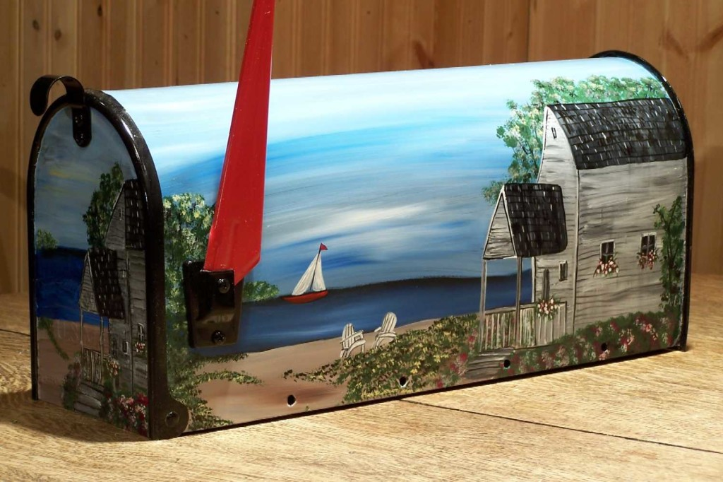 hand painted decorative mailboxes Decorated
