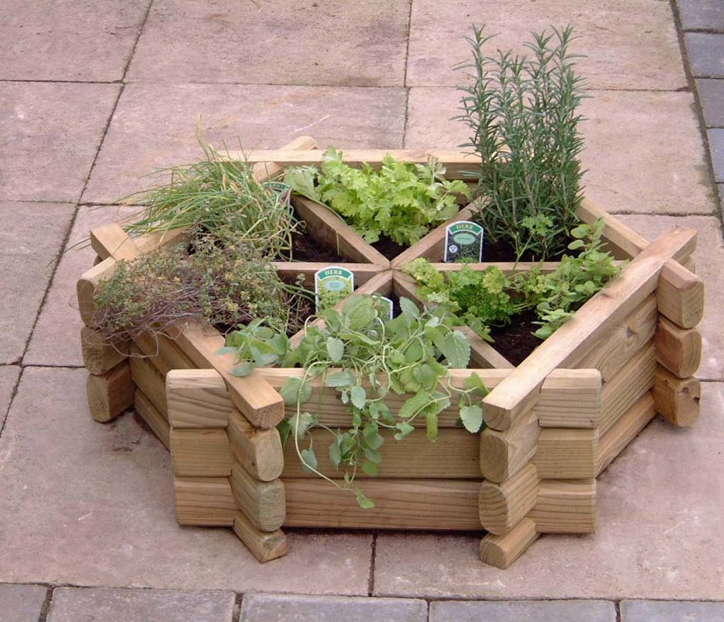 herb garden planter box