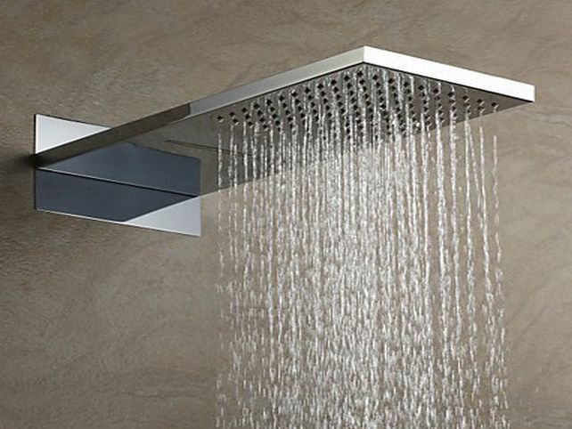 led color changing waterfall shower head