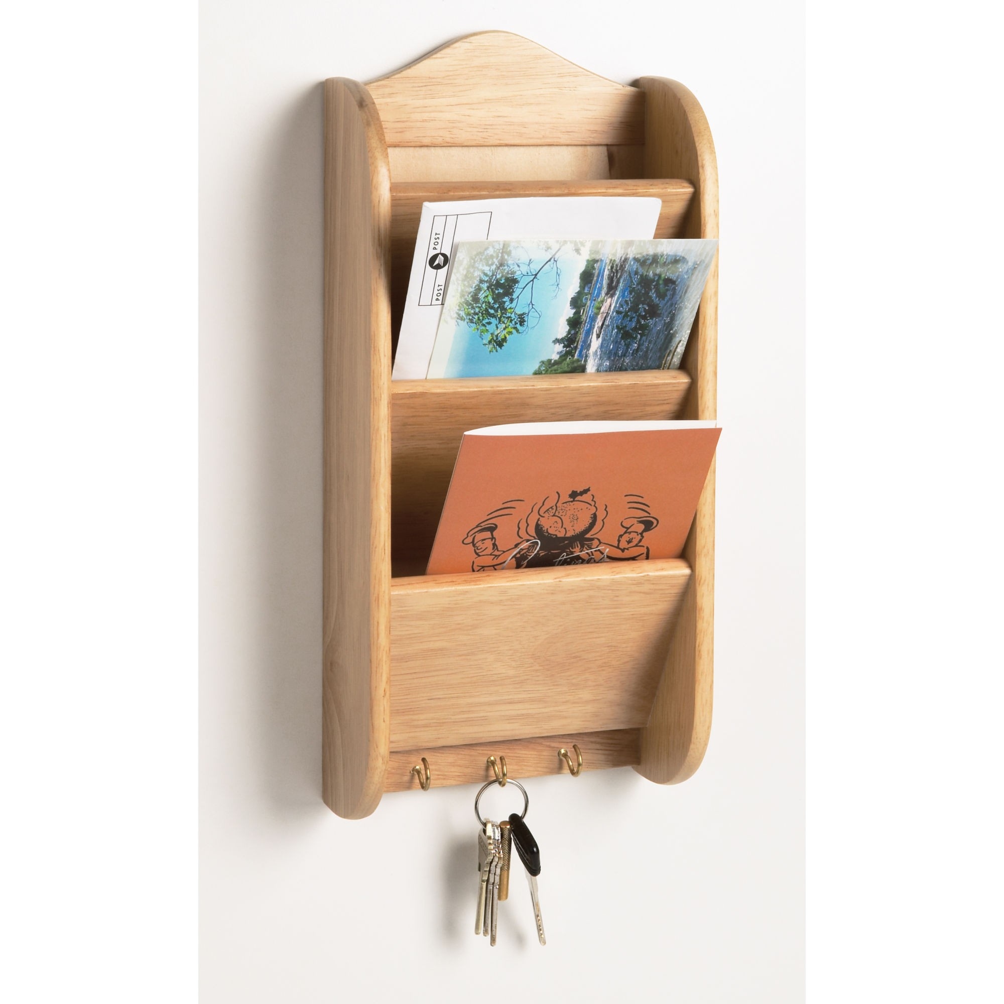Wall Mounted Letter Rack Letter Holder Wall Organizer  Interior Design Ideas