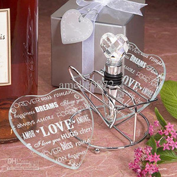 love coasters wedding favors Decorations Heart Design