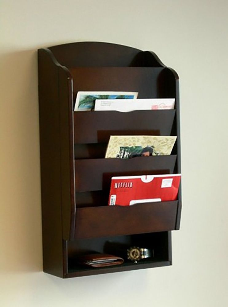 mail holder organizer wall
