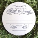 monogrammed wedding coasters