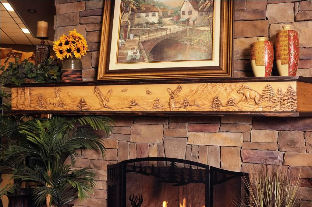 rustic fireplace mantel decor
