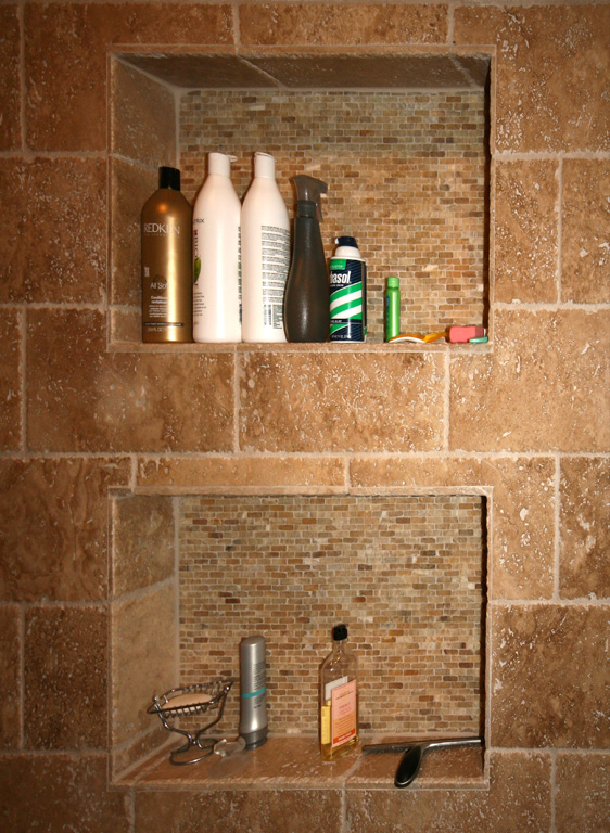 shower niche shelf Crete Setting Material