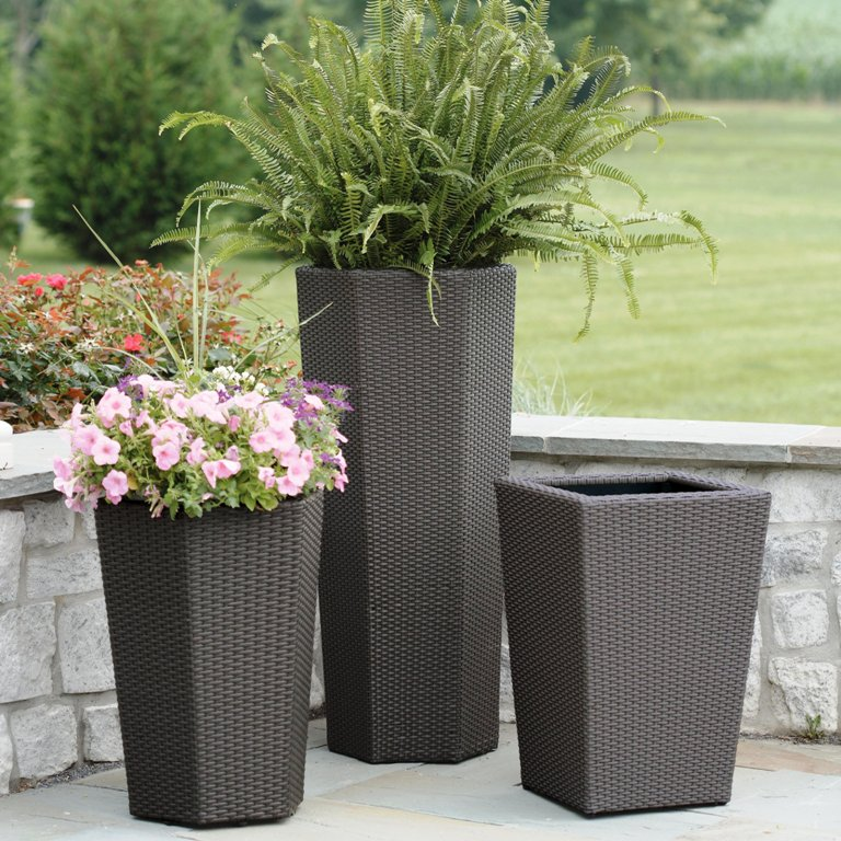 White Outdoor Patio 36 Deluxe Large Garden Planter Flower: Tall Outdoor Planters And How To Benefit From Them