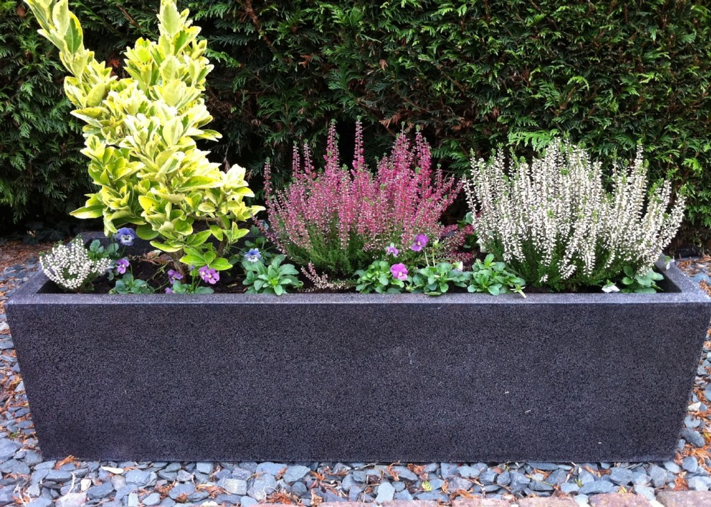 the tall outdoor planters