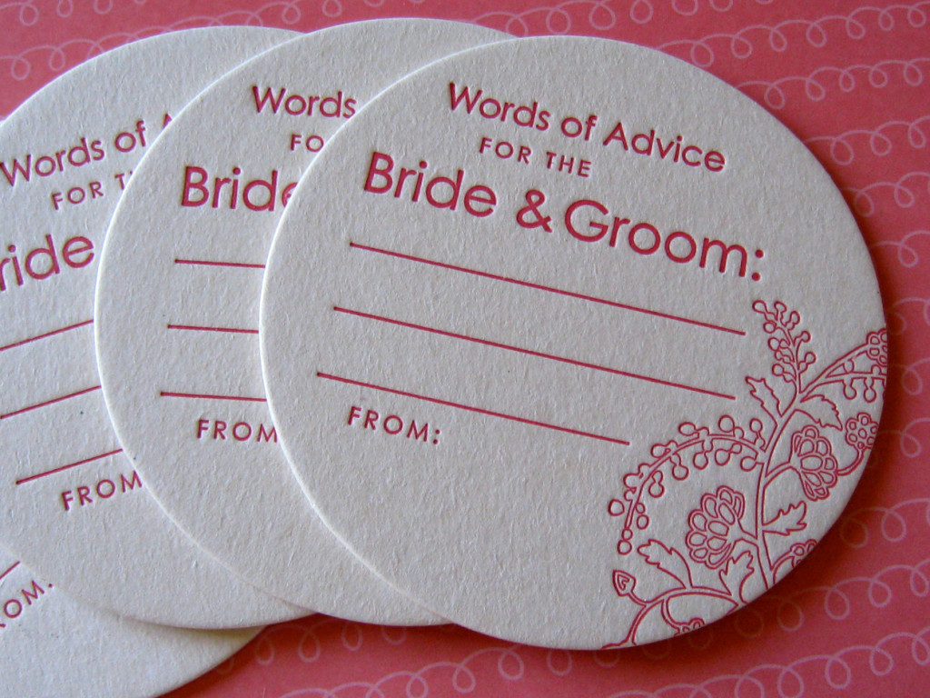 wedding coasters advice