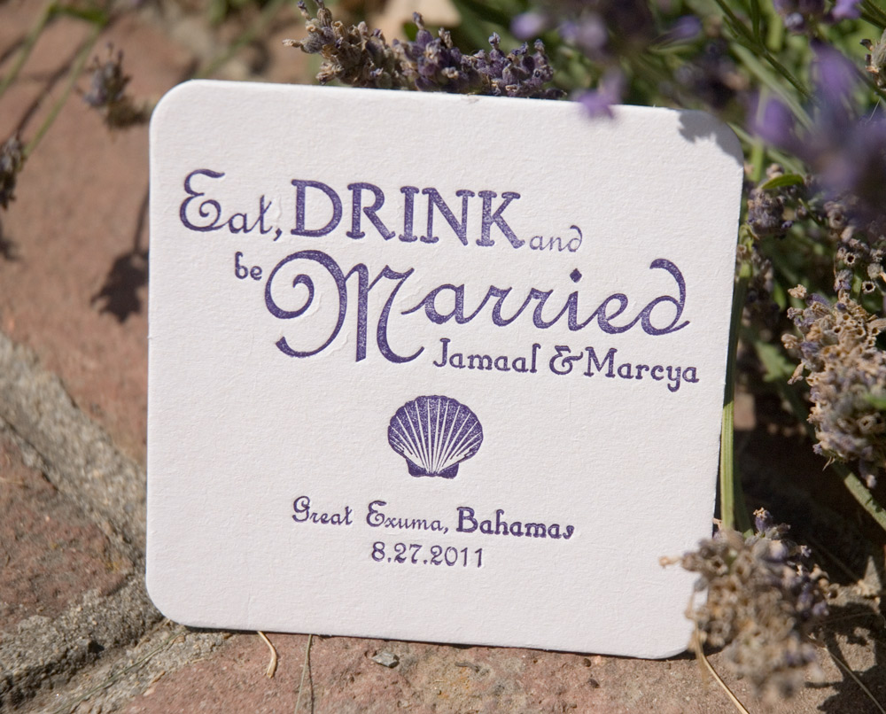 wedding coasters favors