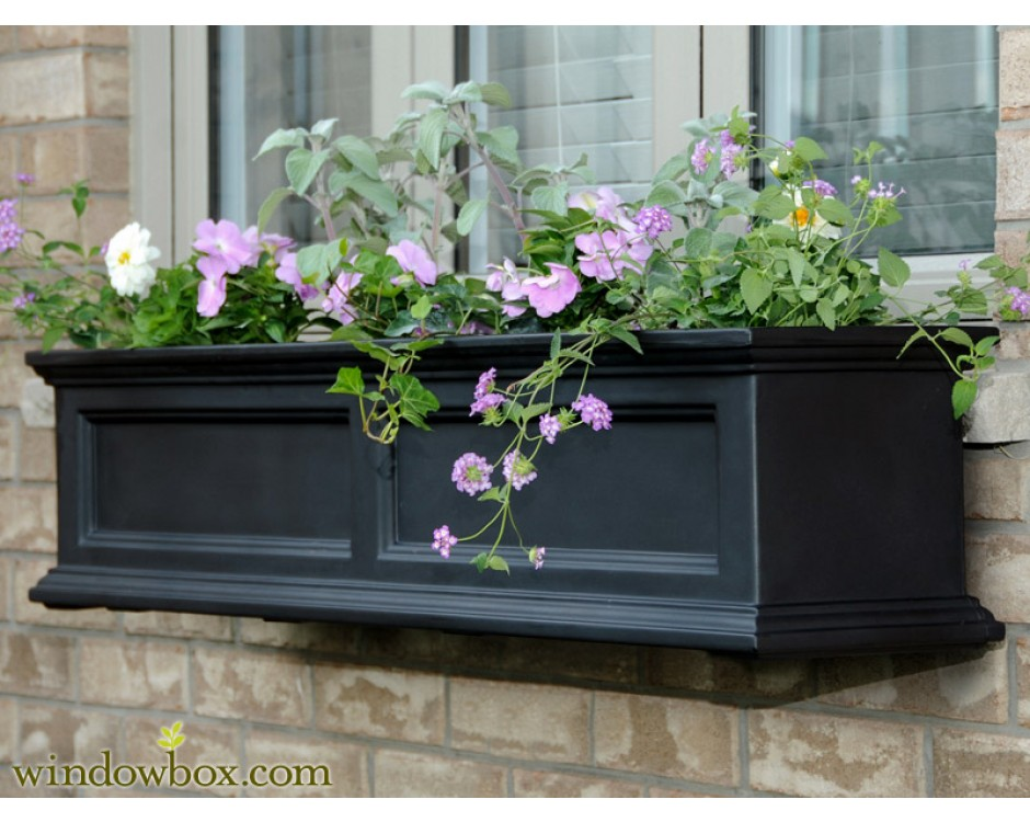 window sill flower box