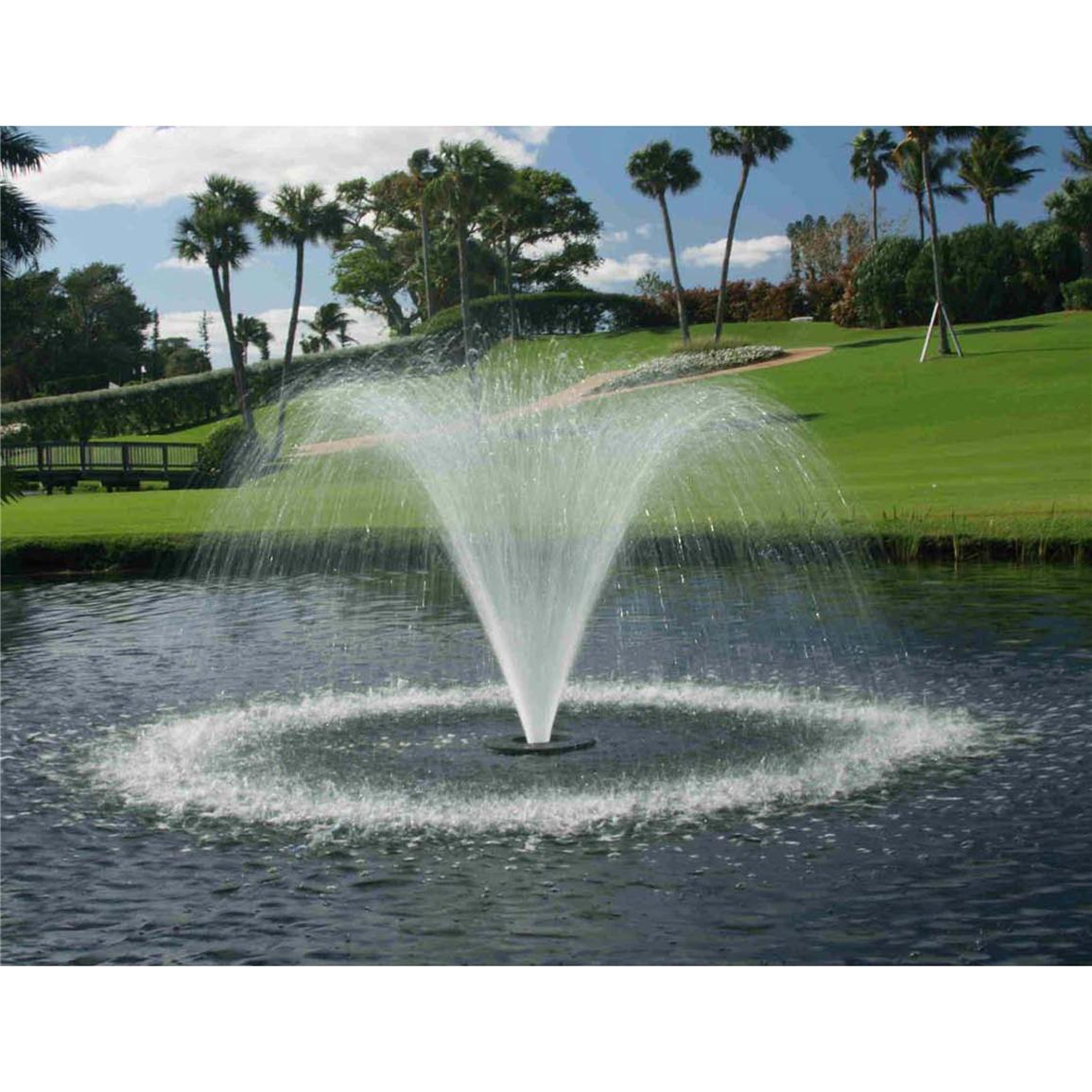 Water pond fountains interior design ideas for Pond with fountain