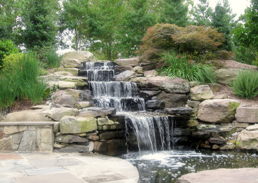 Natural stone fountains outdoor inspirational for Stone garden waterfall