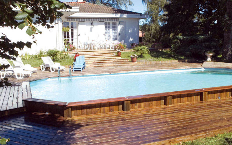 pool deck ideas with Natural Materials