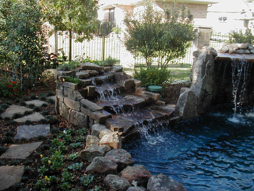 Beautiful HD Pond Waterfall