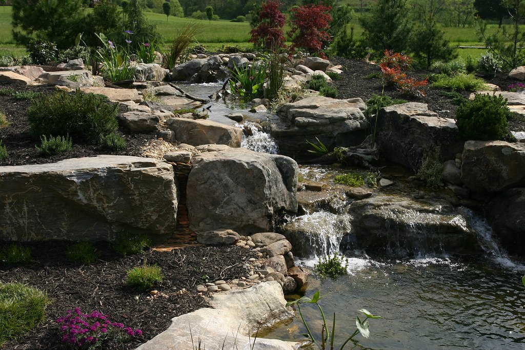 Images pond waterfall design