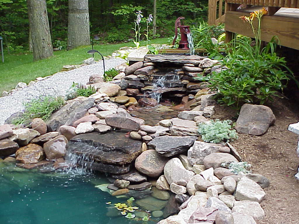 garden pond waterfalls